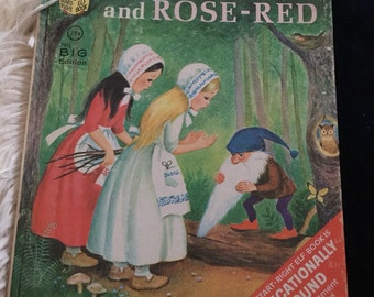 Vintage Snow White and The Rose-Red Hardcover Book by Rand McNally Publisher