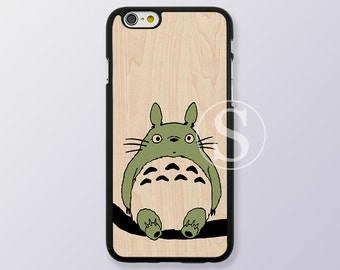 Totoro iPhone 5 case, Wood iPhone 6 case, iPhone 6 plus case, Wood print iPhone 6s, My Neighbor Totoro iPhone 6s plus case, SB-50