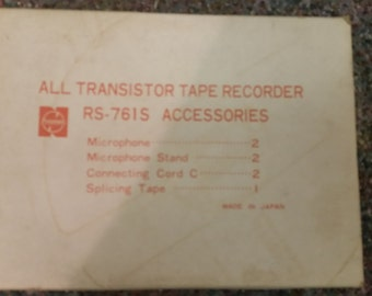Panasonic all transistor tape recorder RS - 761s accessories