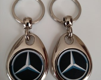 MERCEDES BENZ keychain 2 pack double sided