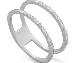 Double Row CZ Ring