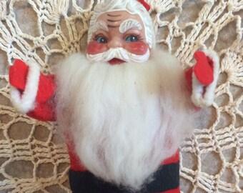 Vintage Christmas Santa Claus Doll Decoration 1950's ??