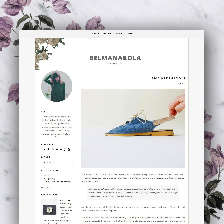 Premade Blogger Template Belmanarola