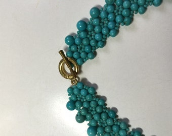 Turquoise Holly Berry Necklace