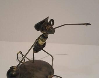 Sparky Metal Art Sculpture