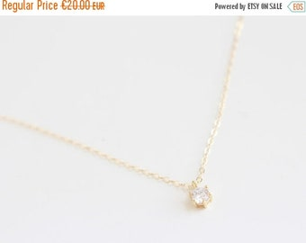 ON SALE SWEET Sun | Zircon necklace and gold