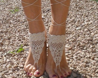 AK110 Barefoot Sandals Crochet Cotton