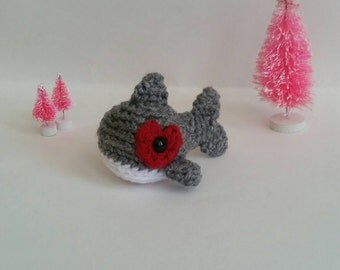 Crochet Shark Mini Amigurumi Toddler Toy