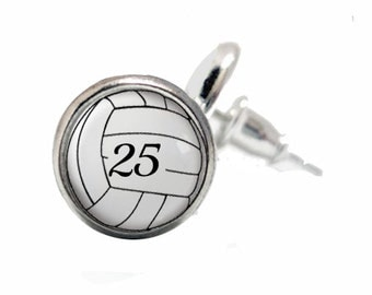 Volleyball Earrings, Personalized, Volleyball Gift, Volleyball Mom, Sports Jewelry, Volleyball Number