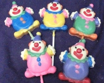 Circus Clown chocolate lollipops