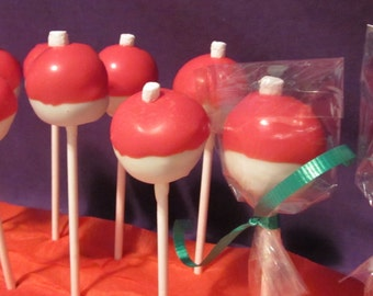 24 Fishing Bobbers chocolate dipped cake pops