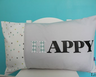 """Happy """"Happy"""" for a decorative cushion cover"""