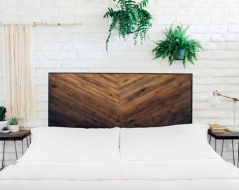Rustic Brown Gradient Wooden Headboard - Ombre Wall Hanging