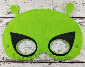 Alien Children's Felt Mask  - Costume - Theater - Dress Up - Halloween - Face Mask - Pretend Play - Party Favor
