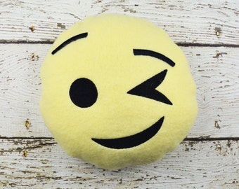 Winking Emoji Plushie