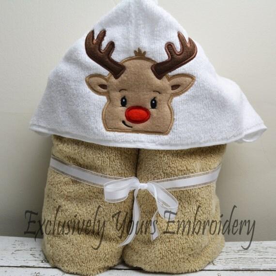 Reindeer Children's Hooded Towel
