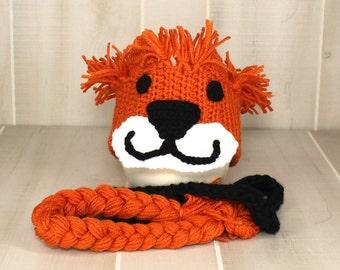 Childs Lion Headband Crochet Lion Hat