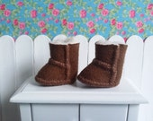 Brown low boots Ugg for Blythe, Pullip and pure neemo type.