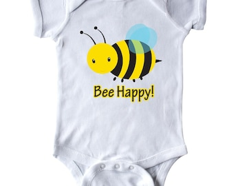 Bee Happy! Infant Creeper by Inktastic