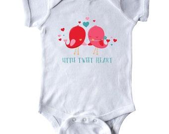 Little Tweet Heart Infant Creeper by Inktastic