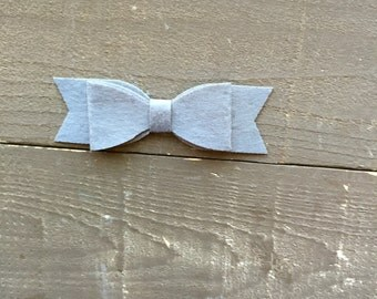 Elephant Gray Soft Felt Bow