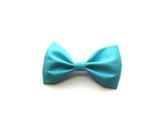 Aqua  cotton bow
