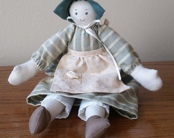 Handmade Girl Americana Folk Doll