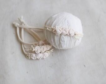 Dusty pink rose headband
