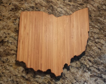 Medium Bamboo Ohio Cutting Board