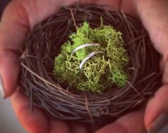 Bird Nest, Ring Holder, Rustic Wedding, Rustic ring holder, Ring bearer, Bird nest ring holder, ring pillow, wedding ring holder, nest, twig