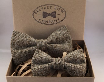 Father and Son Tweed Bowtie Giftset