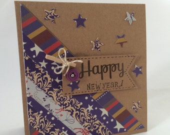 Handmade Purple Kraft Card