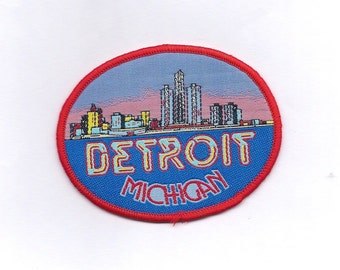 Vintage Detroit Michigan Patch
