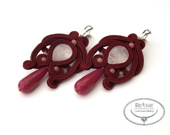 "Soutache earrings ""Wanda"""