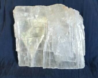 Raw Selenite Slab // ALTAR Temple Crystal // Meditation Stone // Healing Crystal // LARGE White Selenite // Crystal Home Decor / Angel Stone