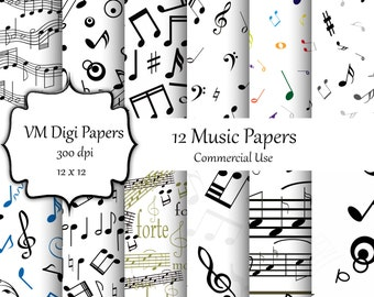 Music Papers Digital Paper, Music Papers, Music Digital Paper, Music Papers Background, Digital Paper, Background Music Paper, #9477
