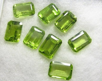 Natural Loose Peridot 8mm x 6mm Emerald Cut 1 Piece, August Birthstone, Pantone Color of the Year 2017