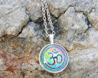 Colorful Om Yoga Pendant Necklace