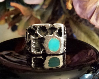 Sterling silver turquoise native American ring