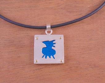 Blue Bird Pendant