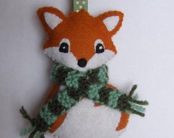 Wooden Christmas Fox. Wooden handmade Fox. Christmas