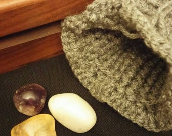 Trinity Stone Set - Amethyst, Quartz & Citrine - Grey Bag