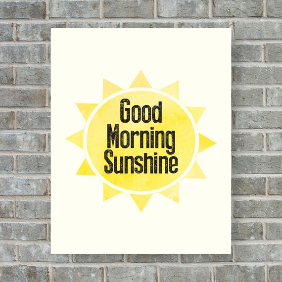 Good Morning Sunshine Download : Good morning sunshine wall art printable