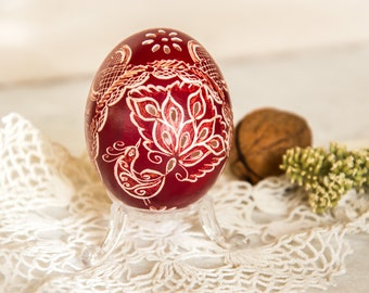 Pysanky Eggs, Traditional Slavic Carved and Wax-Embossed Chicken Egg, Pysanka, Easter Decorations, Easter Decor, Hand Decorated, Easter Eggs