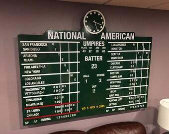 Wrigley Field Magnetic Score Board