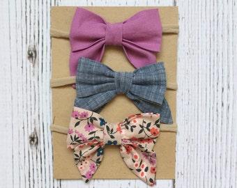 sailor bow headband // mini sailor bow // girls hair accessory