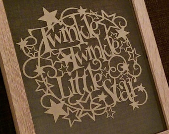 Twinkle Twinkle - A gorgeous paper cutting template -Personal And Commercial Use PDF