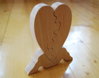 Heart  Wooden Heart  Heart puzzle  Valentin day gift Woooden decor Home decor Holidays gift Wooden heart Heart puzzle