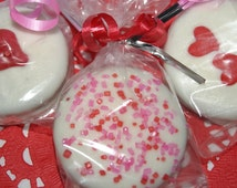 Gourmet hand dipped CHOCOLATE COVERED OREO cookies - One dozen, Made to order, Valentine's Day gift, edible gift, homemade, cookie gift
