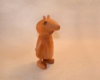 Wooden Peppa Pig.